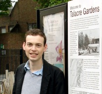 Cllr Matt Sanders at Talacre Gardens