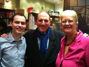 Simon Hughes MP joins Jill and Matt to celebrate a decade of Liberal Democrat councillors in Haverstock.